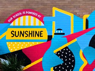 South Sydney High Mural Installation