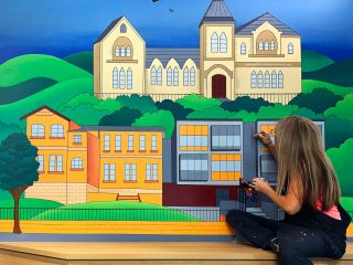 CIEHS Hand Painted Murals