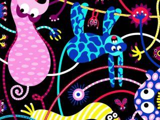 Friendly Monsters Illustration