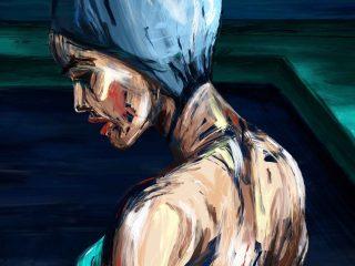 Midnight Swim Illustration