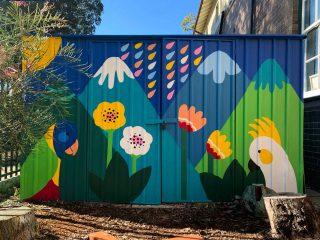 Garden Shed Mural