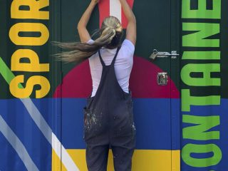 Sports Container Mural
