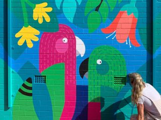 King Parrots Mural