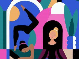 Yoga Studio Illustrations